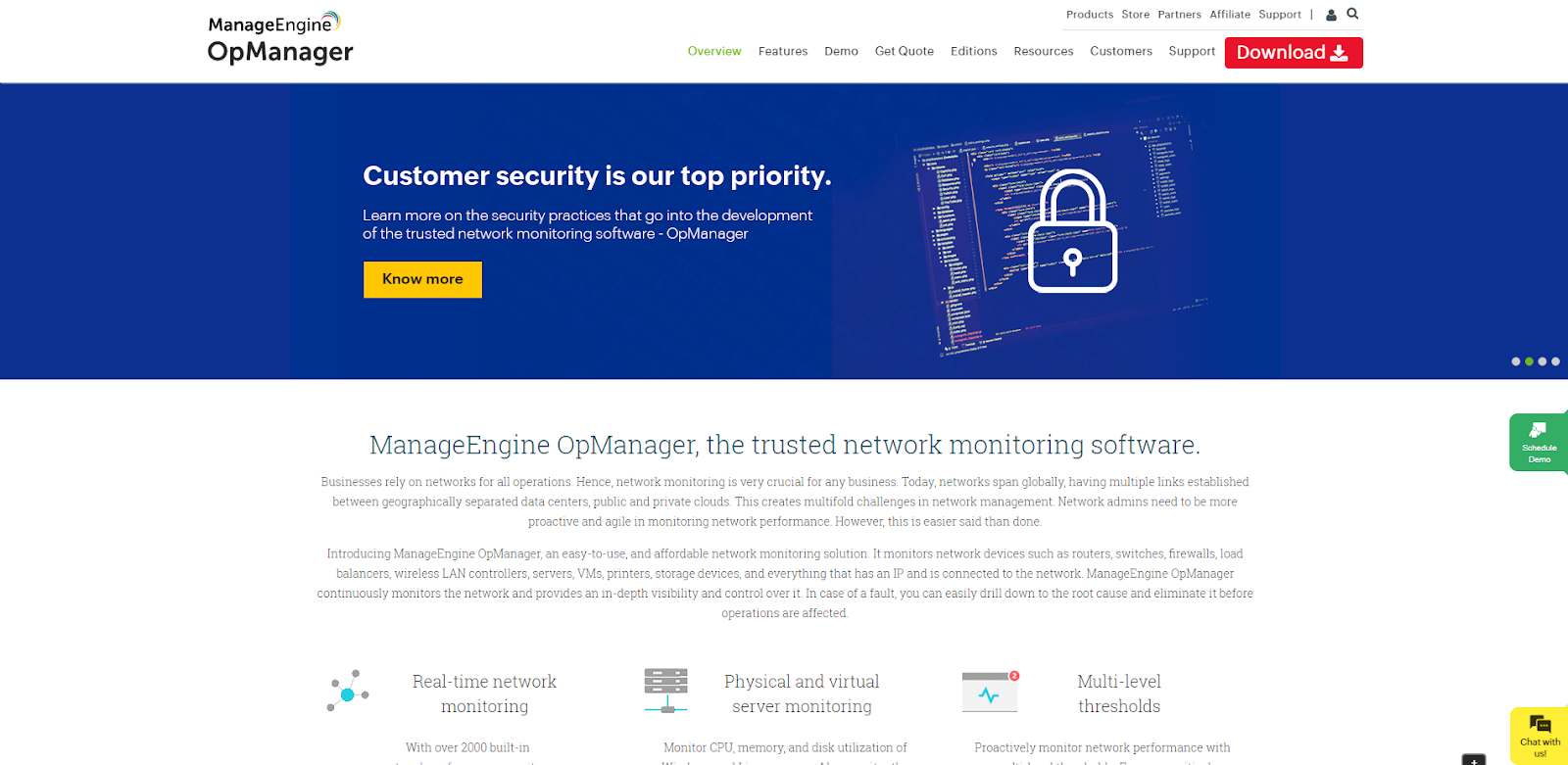 ManageEngine OpManager Network Monitoring Tool