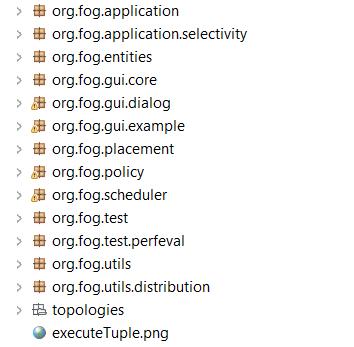 iFogsim API namespaces - iFogSim Project Structure