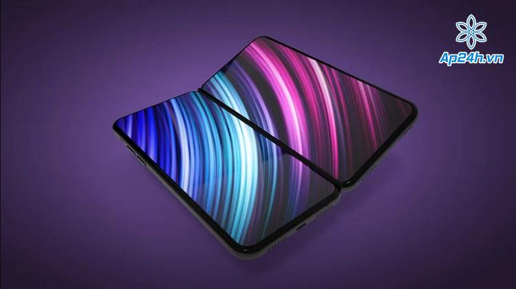 Thiết kế iPhone gập với màn hình riêng biệt
