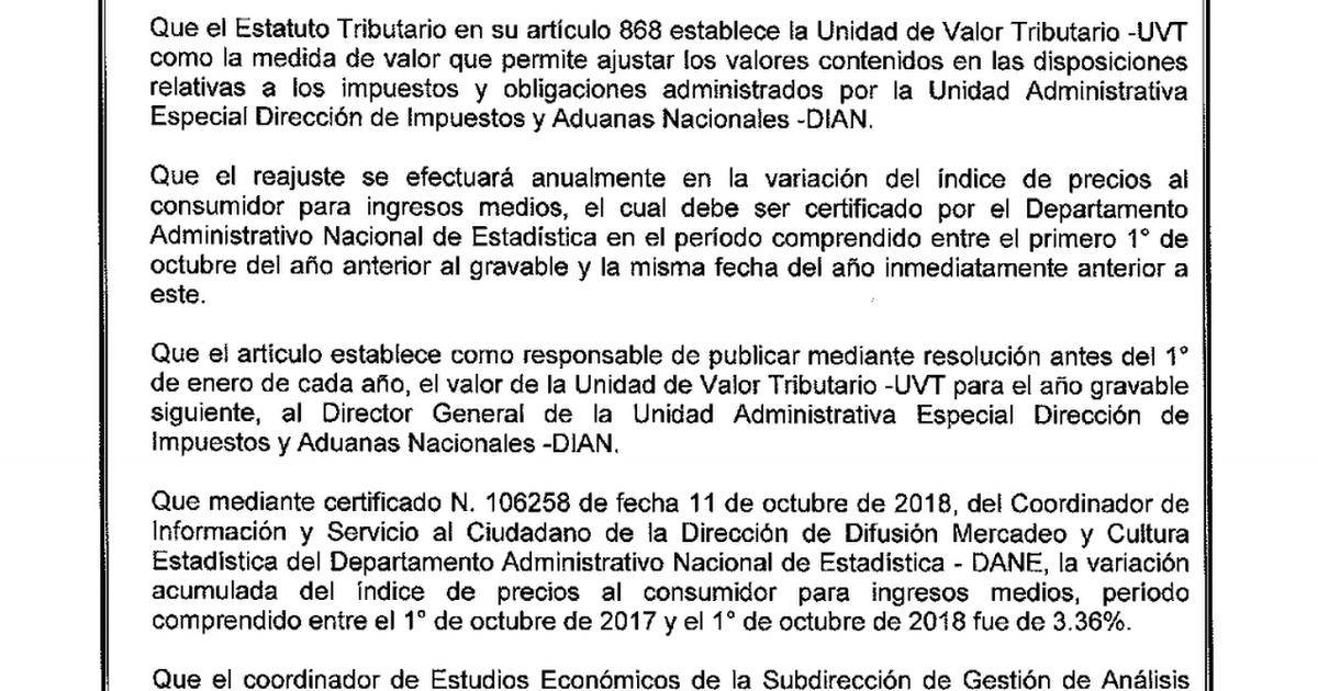 VALOR TRIBUTARIO APLICABLE PARA EL AÑO 2019.pdf