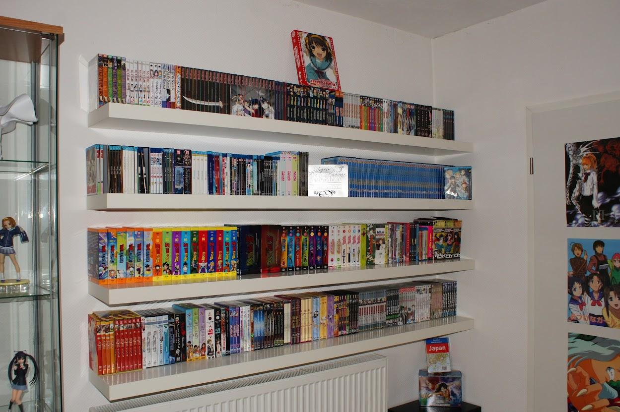 Anime Sammlung Otaku Zimmer