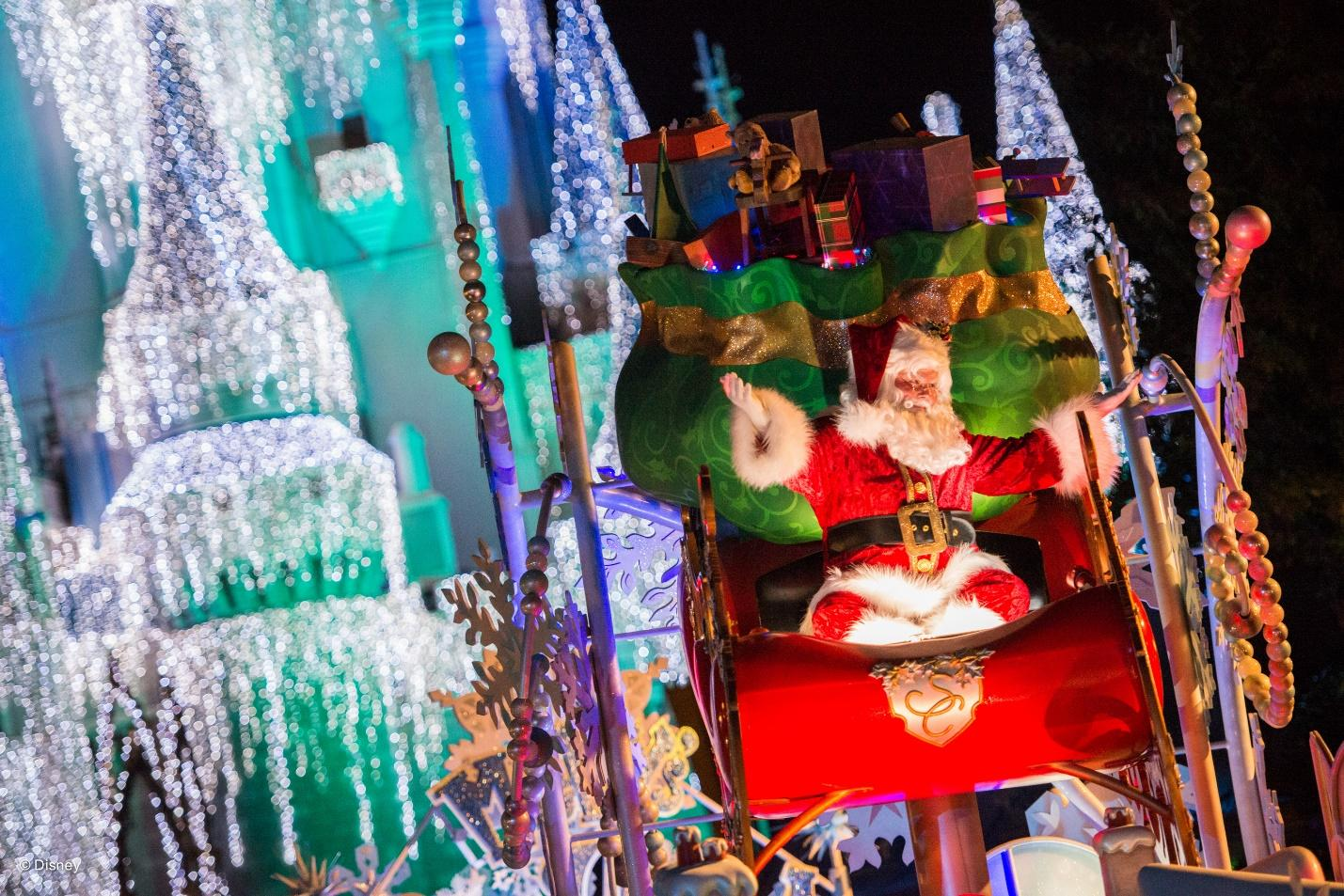 Christmas decorations at Disney World during a busy, but magical time of the year!