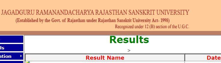 JRRSU Jaipur Result