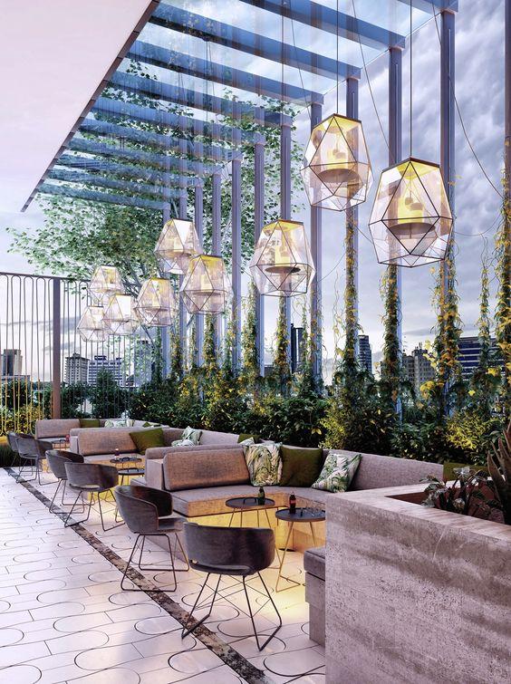 Thiết kế quán cafe sân vườn theo phong cách hiện đại