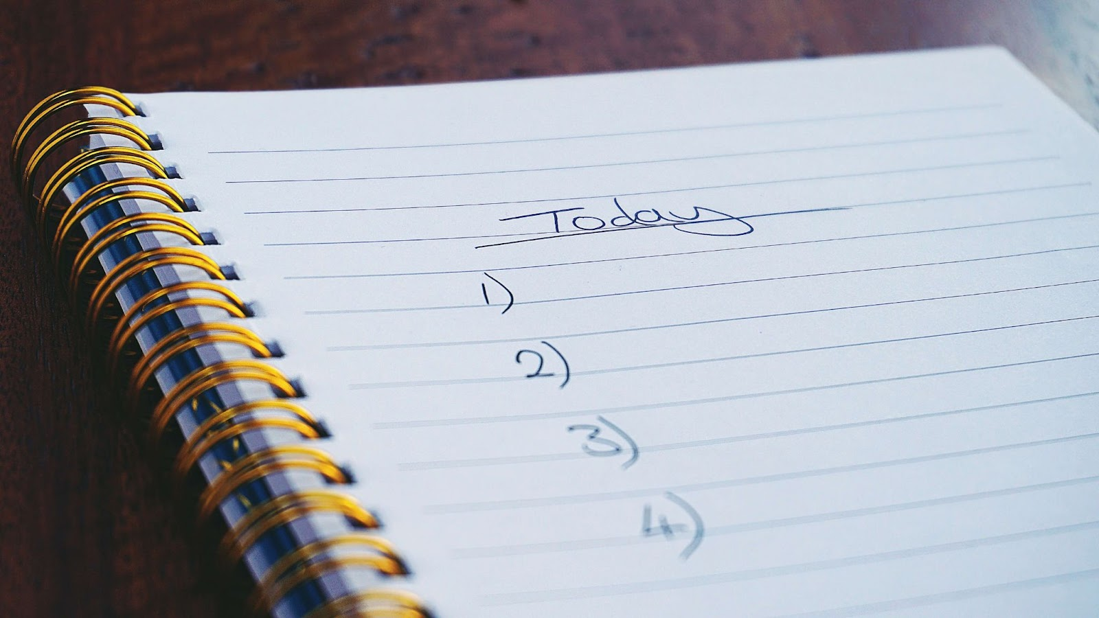 To-do list in a notebook