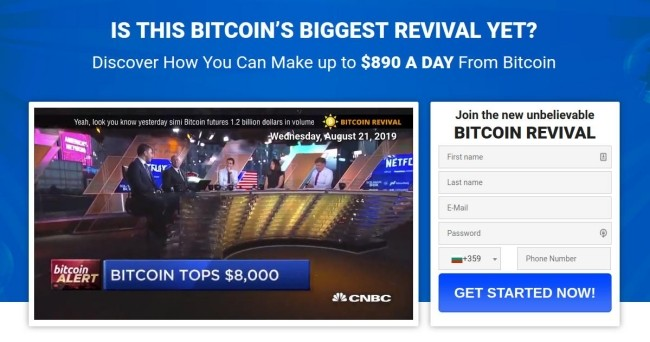 Bitcoin Revival website