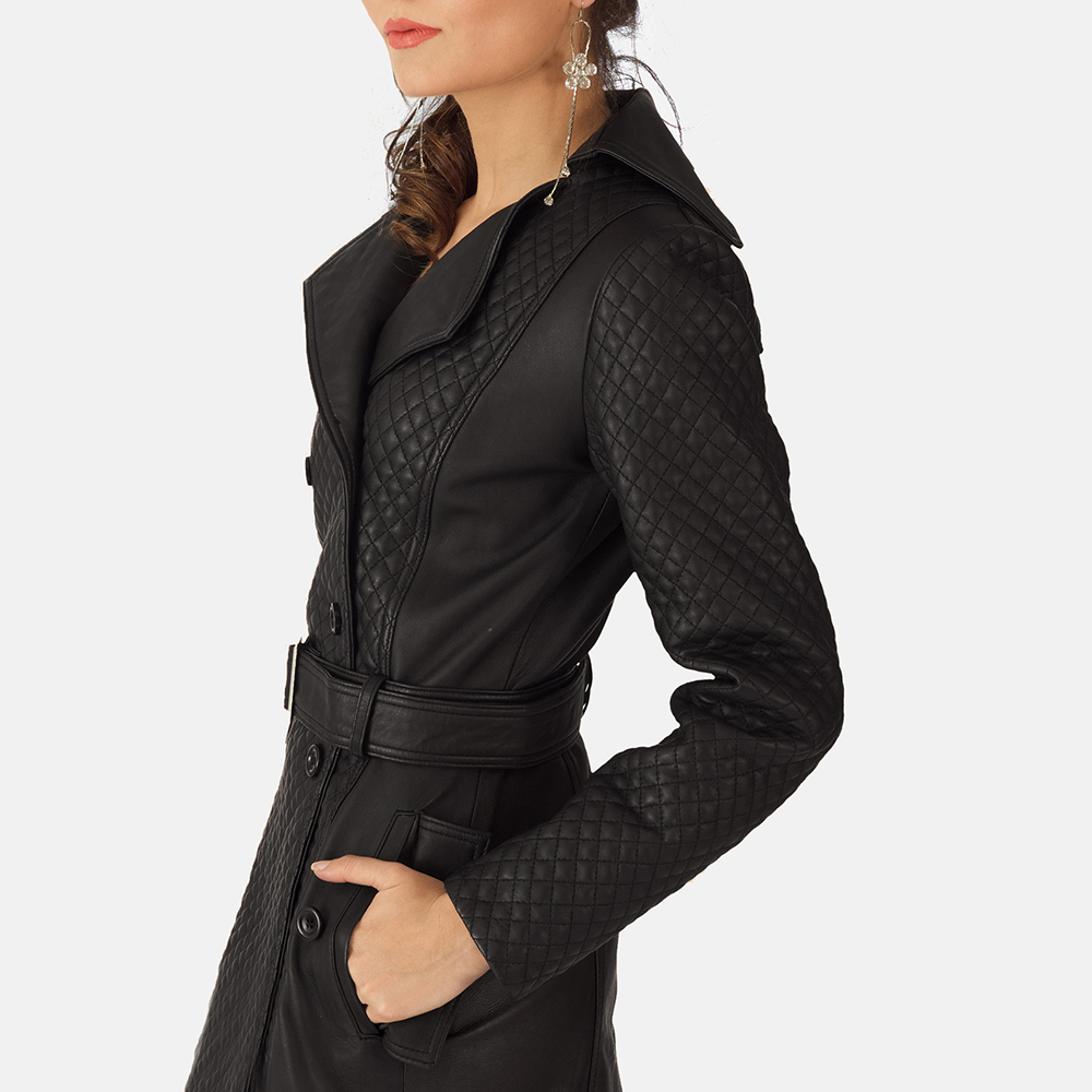 boss lady trench coat