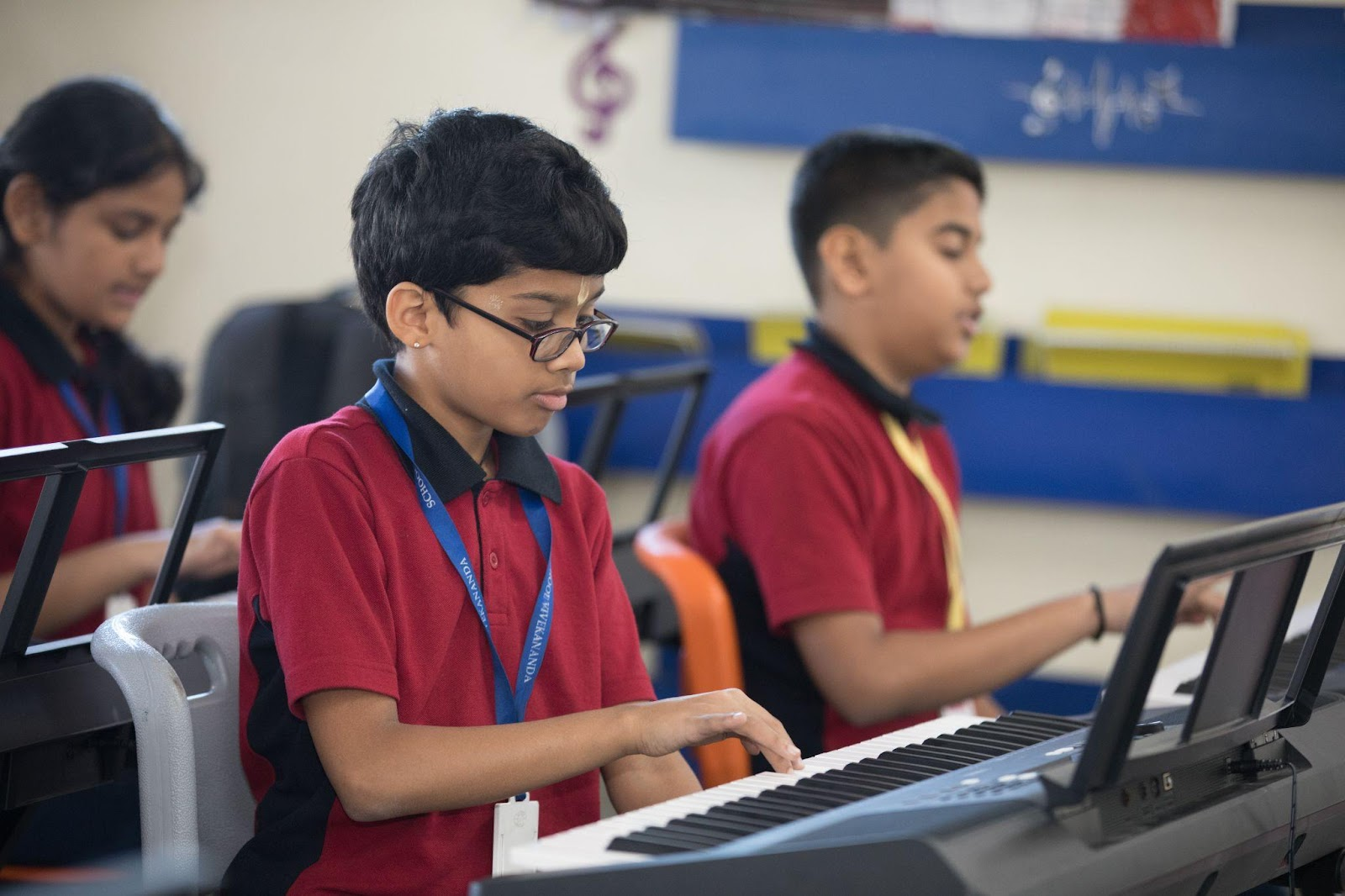 music classes at Orchids helps children in skill development