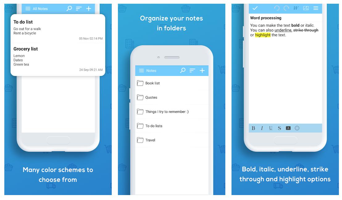 memo apps Keep My Notes smartphone screenshots