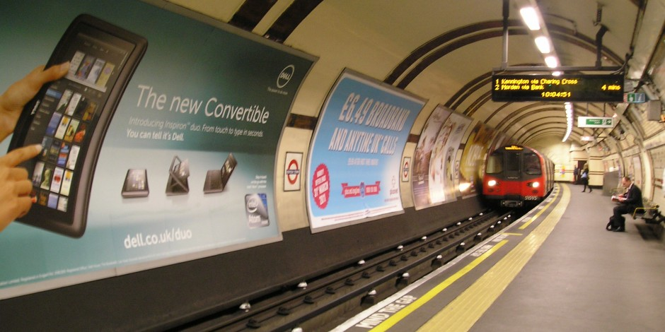 The underground provides so many hyperlocal opportunities to use outdoor advertising to promote your brand.