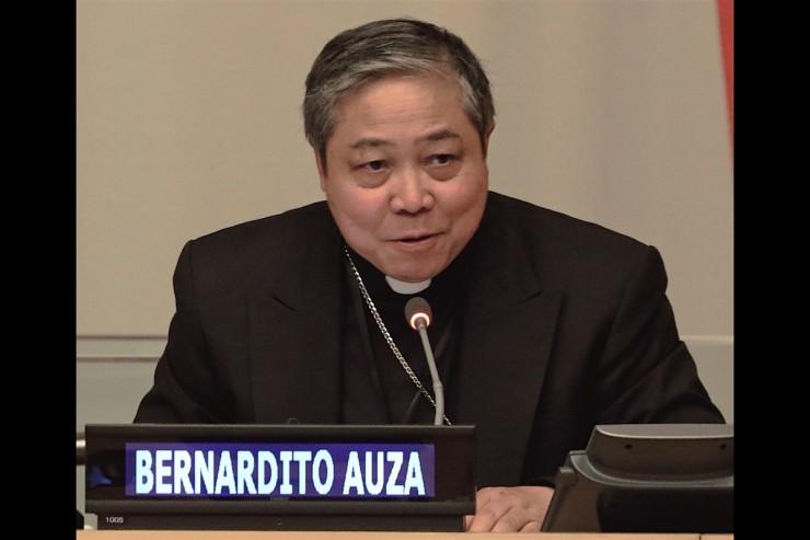 Trình bày của Đức Tổng Giám mục Auza về thay đổi những cấu trúc tuổi dân số và sự phát triển bền vững