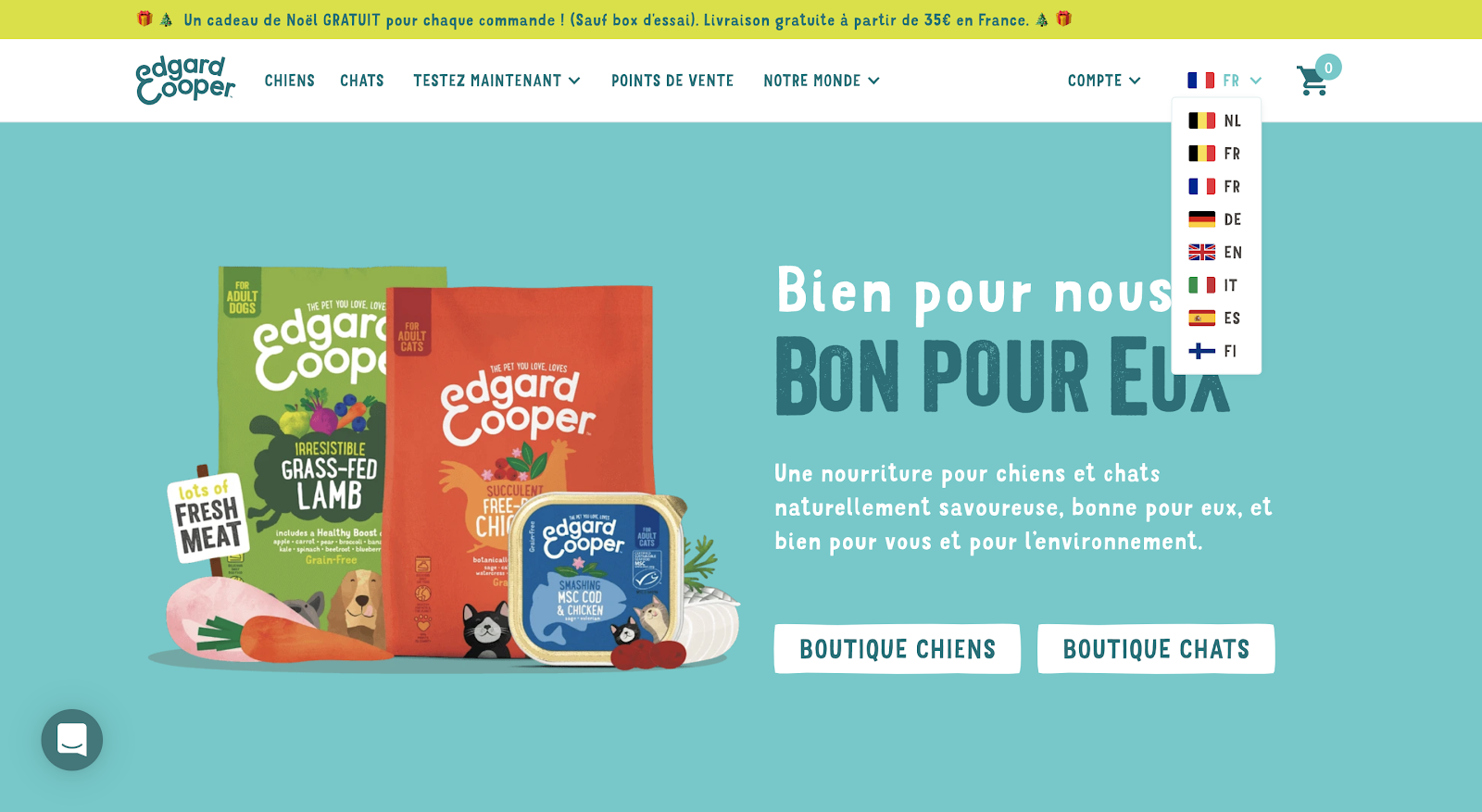 Multilingual Website Example: Edgard & Cooper Homepage