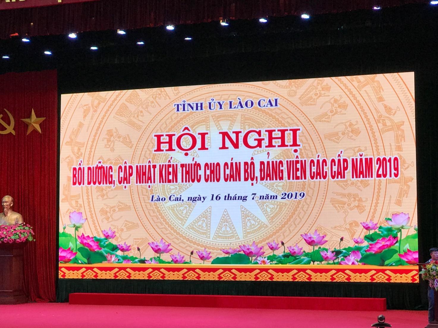 Hội nghị bồi dưỡng, cập nhật kiến thức cho cán bộ đảng viên các cấp năm 2019