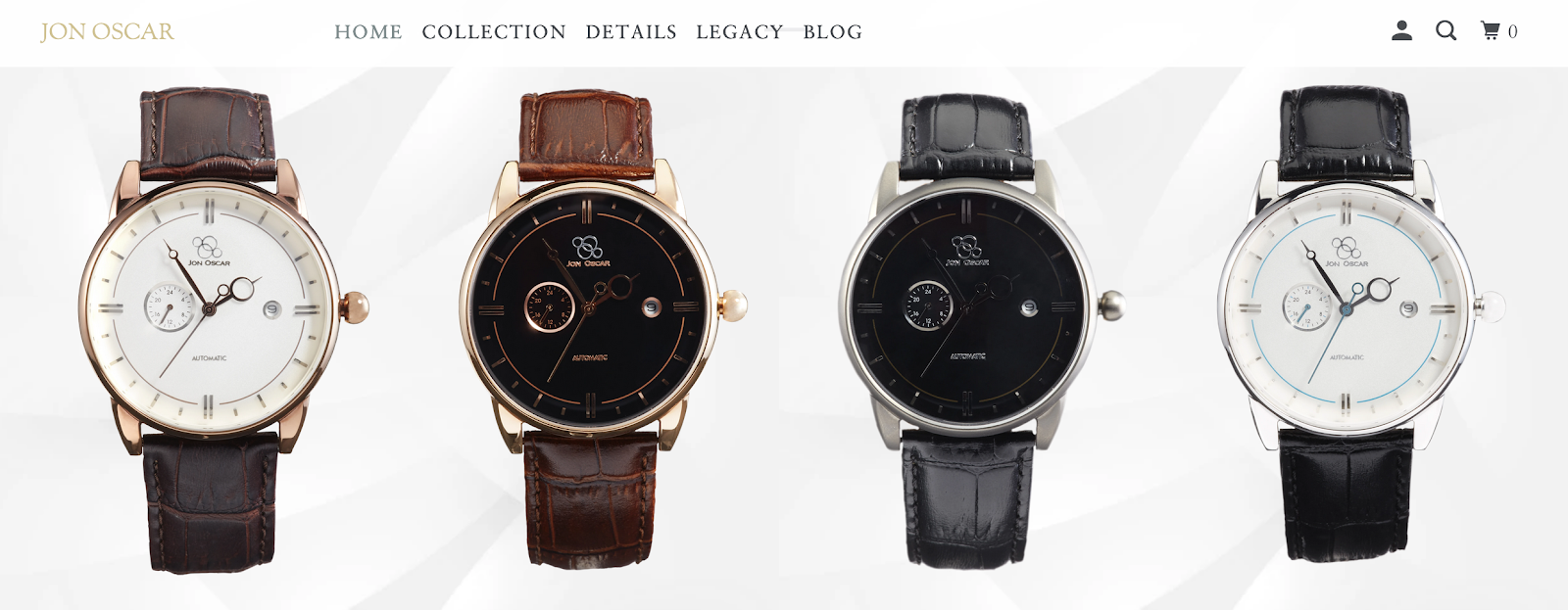 Row of Jon Oscar Men's Watches | Influencer Programs Opportunity