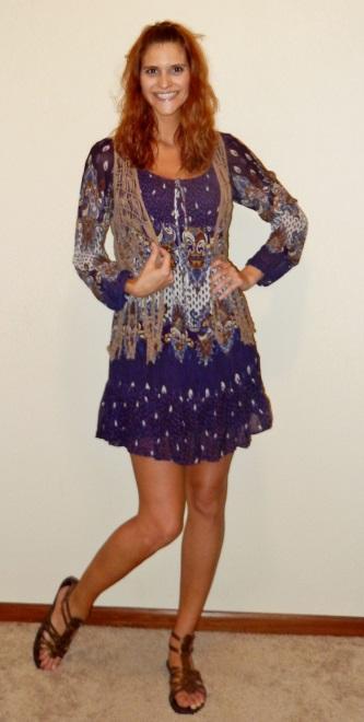 Summer Fashion 70s Weekend Boho Dress