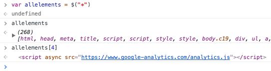 "var allelements = $(""*"") undefined allelements (268) [html, head, meta, title, script, script, style, style, body.c19, div, ul, a, a, div.maincontent, p#h.hxvgegbtvmf.c7.title, span.c1.c18, p#h.wqy2hux8v33s.c7.title, span.c1, p.c5, span.c0, p.c16, span.c0, br, p.c16, span, span.c14, a.c11, span.c0, p.c5, span.c0, p.c16, span, span.c14, a.c11, span, p.c5, span.c0, p.c16, span, img, span, img, span, img, h2#h.kjx1b8tjwivx.c17, span.c18.c22, p.c16, span.c15, p.c5, span.c18.c6.c20, p.c5, span.c18.c20.c6, h3#h.yqyl8lch51a8.c9, span.c6, span.c10, p.c2, span.c0, p.c2.c8, span.c0, p.c2, span, span.c14, a.c11, span.c0, p.c2.c8, span.c0, p.c2, span, span.c14, a.c11, span, p.c5, span.c0, p.c5, span.c0, p.c5, span.c0, h3#h.obq06nuegrfa.c9, span.c6, span.c10, p.c2, span.c0, p.c2.c8, span.c0, p.c2, span.c14, a.c11, span.c0, p.c2.c8, span.c0, p.c2, span.c14, a.c11, span, p.c2.c8, span.c0, p.c2, span.c14, a.c11, span.c0,…] allelements[4] <script async src=""https://www.google-analytics.com/analytics.js""></script>"