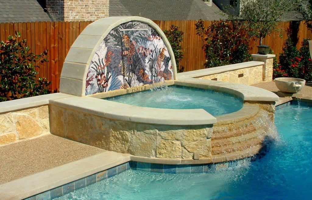 Seahorses Nautical Mosaic Arches by Mozaico
