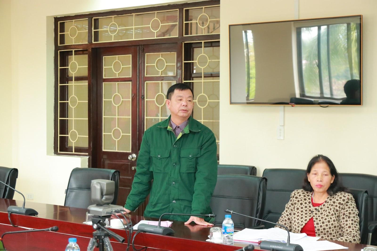 Đại diện tổ dân phố số 2 – p. Tân Thịnh phát biểu tại hội nghị