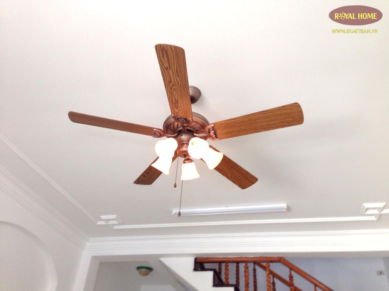 Quạt trần có đèn cao cấp giúp không gian căn phòng thêm đẳng cấp hơn