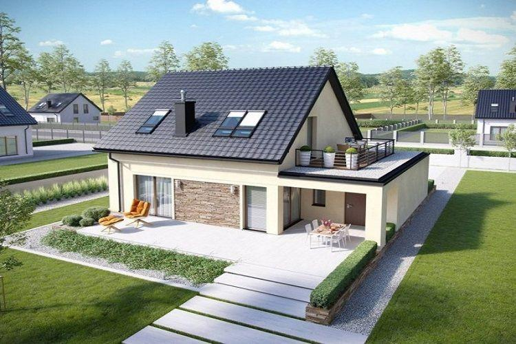A house with trees in the background  Description automatically generated