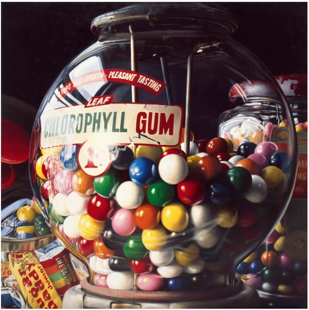 "Charles Bell (1935-1995)  Gum Ball No. 10: ""Sugar Daddy"""