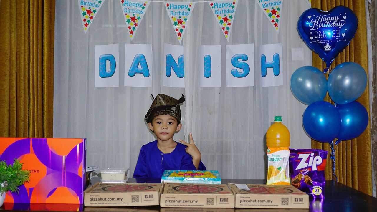 birthday Muhammad Danish Shafiq 2020 7 years PKP