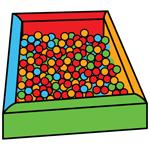 Resultado de imagen de piscina de bolas pictogramas