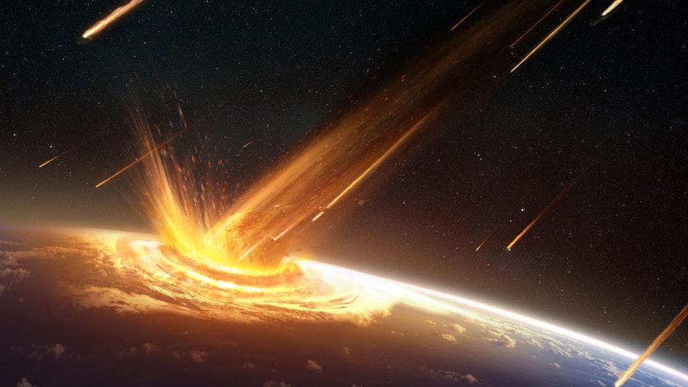 Illustration of an asteroid or comet striking the surface of the Earth, created on July 19, 2015. (Illustration by T
