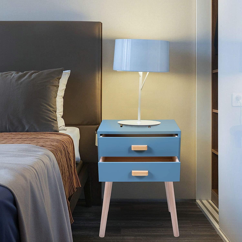 Mid Century Modern Bedroom with Nightstand