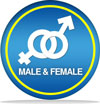 Male and Female Symbols intertwined