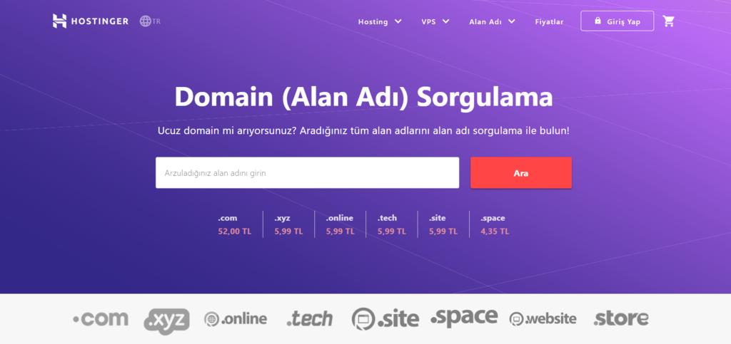 Domain sorgulama kullanarak domain adınızın kullanılabilir olup olmadığını görme