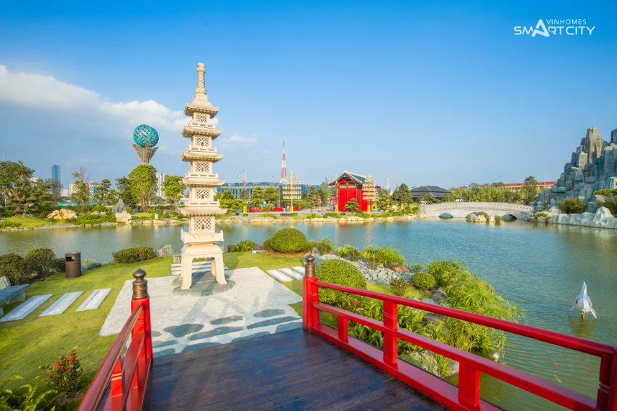 Khám phá tiện ích Vinhomes Smart City với trải nghiệm trong khu vườn Nhật