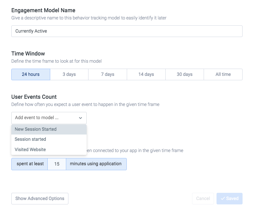 Customer engagement score models setup.