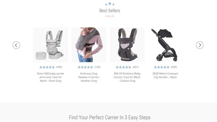 site de produtos para bebes ergobaby