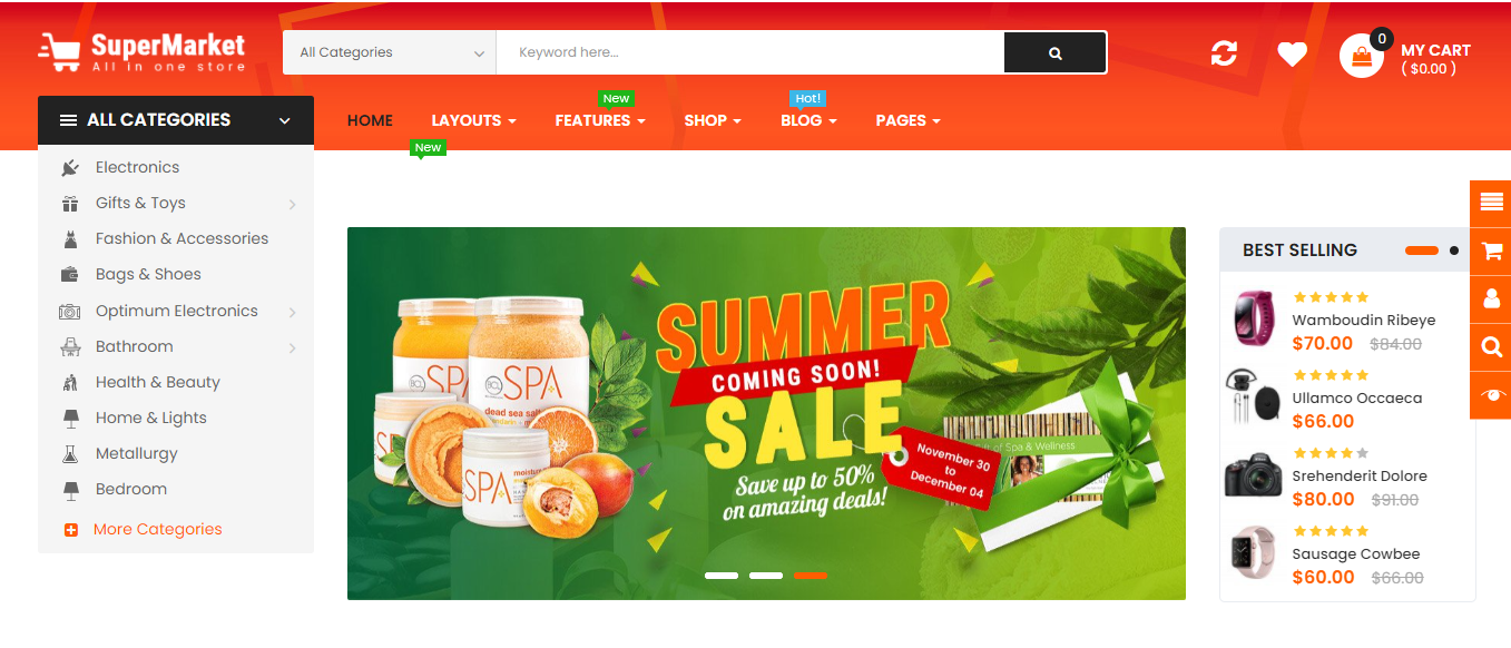 SuperMarket - Opencart supermarket theme