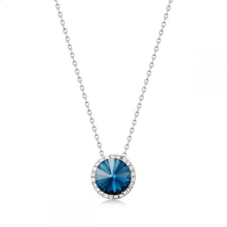 Mestige Emory Necklace With Swarovski Crystals For Women - Blue Silver.jpg