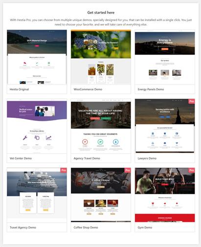 Hestia WordPress Theme Review