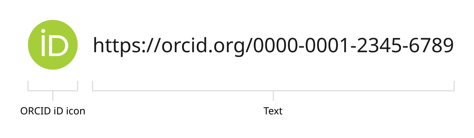 image of orcid icon with attached example url