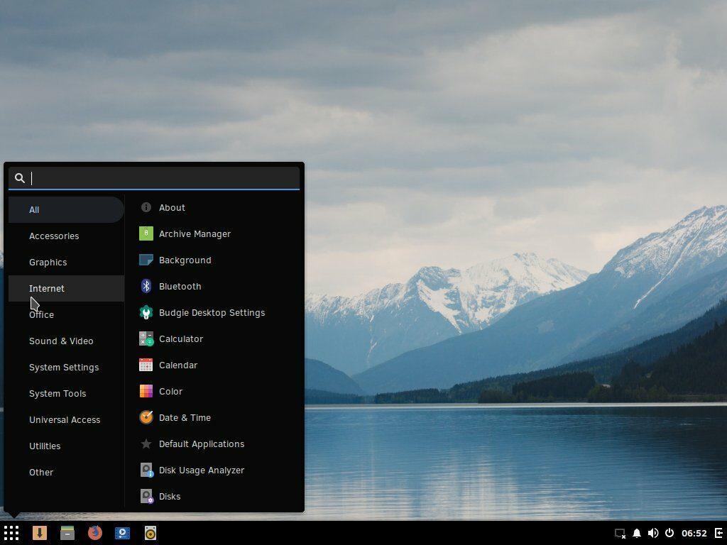 Solus Linux (Budgie desktop environment)
