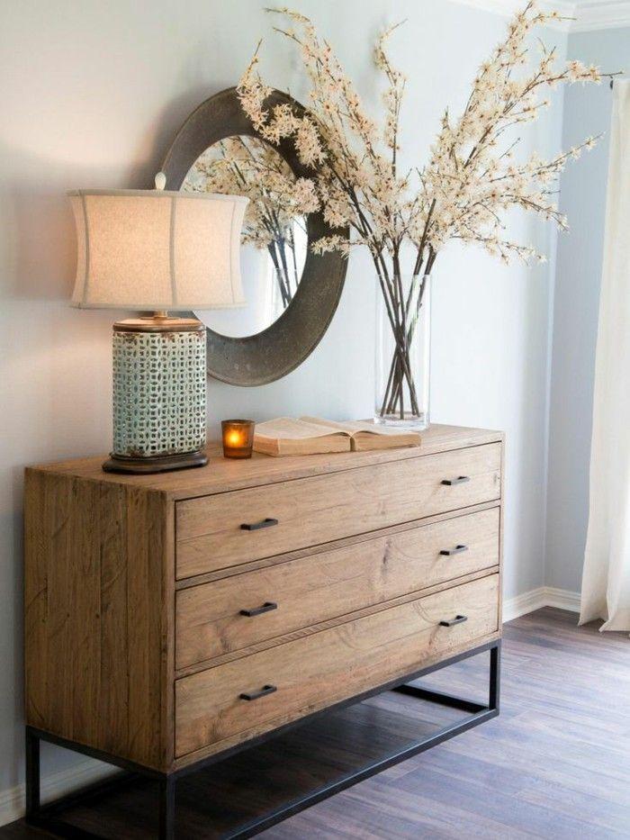 Chic Dresser with A Flower Vase Ideas