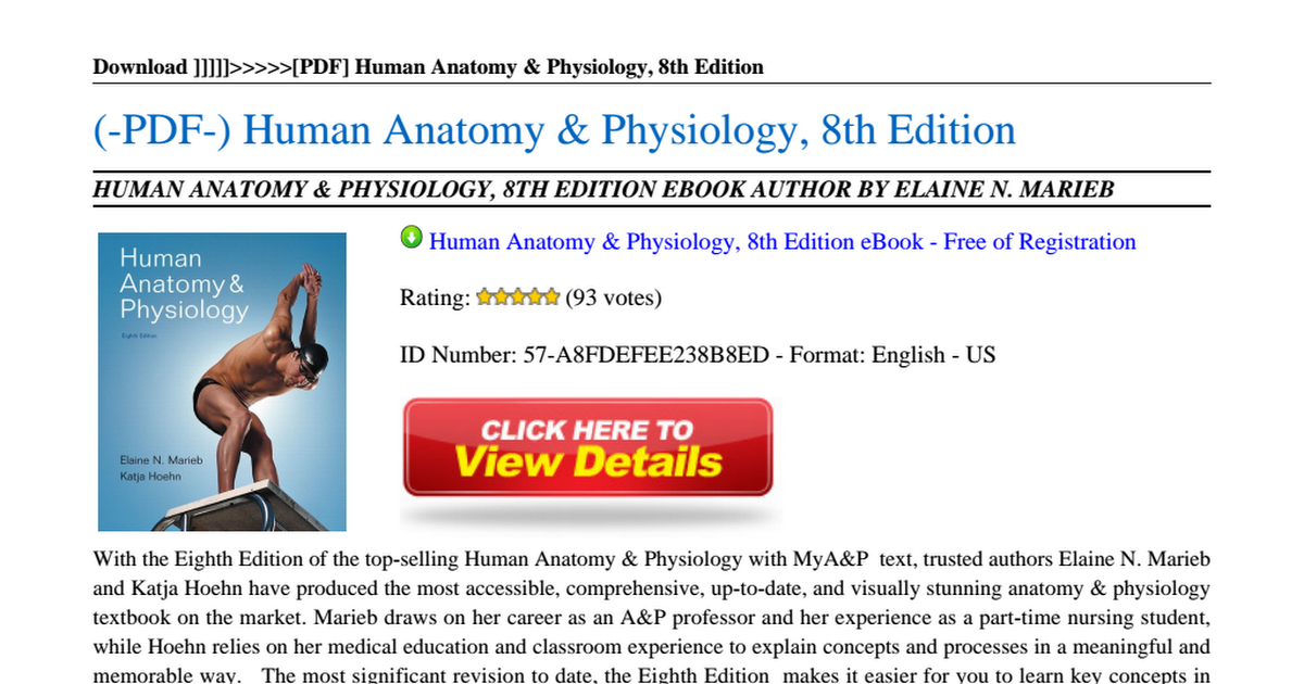Human Anatomy Physiology 8th Editionpdf Google Drive