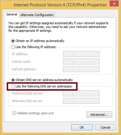 Change the DNS Server Address to Fix Zoom Error Code 5003
