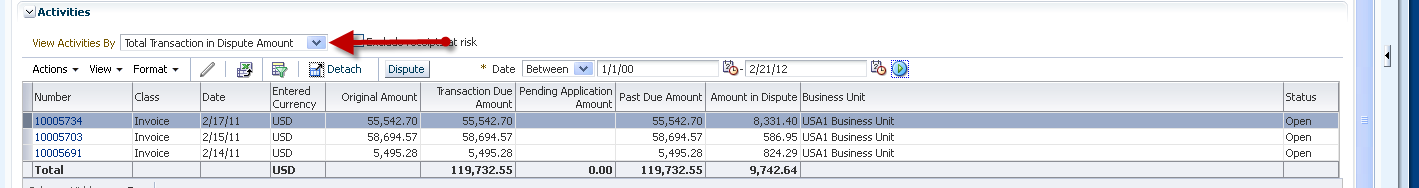 Manage customer enquiries in Oracle Fusion Receivables