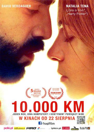 Przód ulotki filmu '10.000 km'