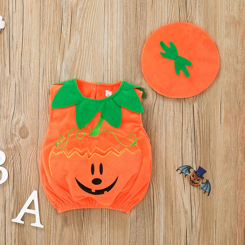 Baby Pumpkin Costume With Hat
