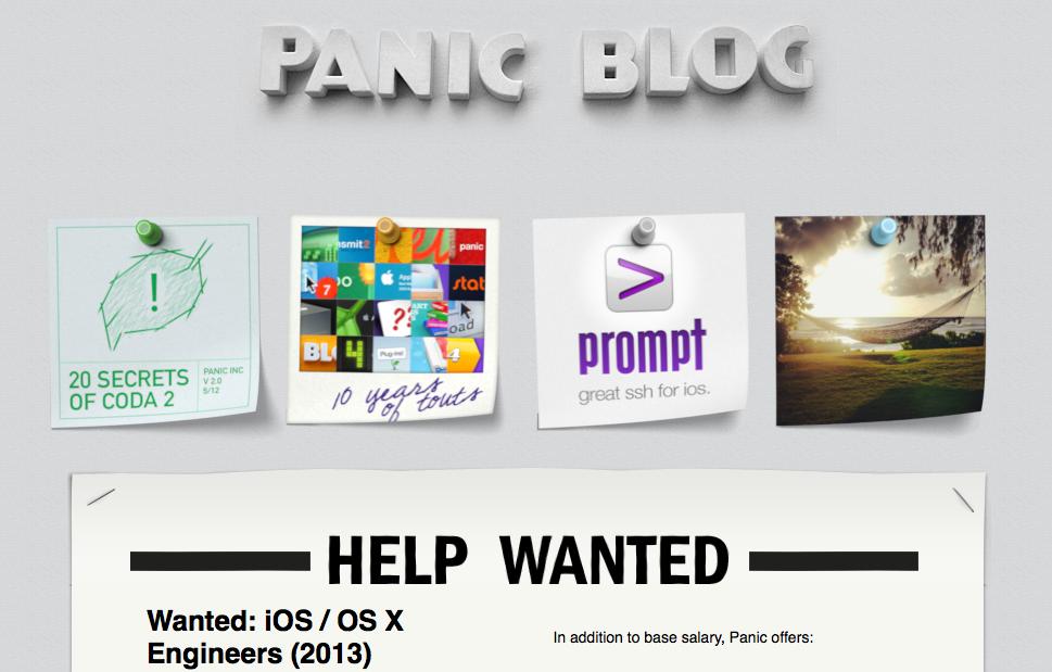 Panic Blog