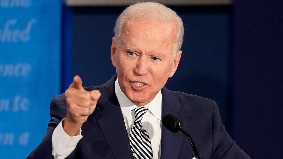 CLEVELAND, OHIO - SEPTEMBER 29: Democratic presidential nominee Joe Biden participates in the first presidential debate against U.S. President Donald Trump at the Health Education Campus of Case Western Reserve University on September 29, 2020 in Cleveland, Ohio. This is the first of three planned debates between the two candidates in the lead up to the election on November 3.