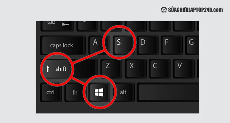 Nhấn tổ hợp phím trên bàn phím