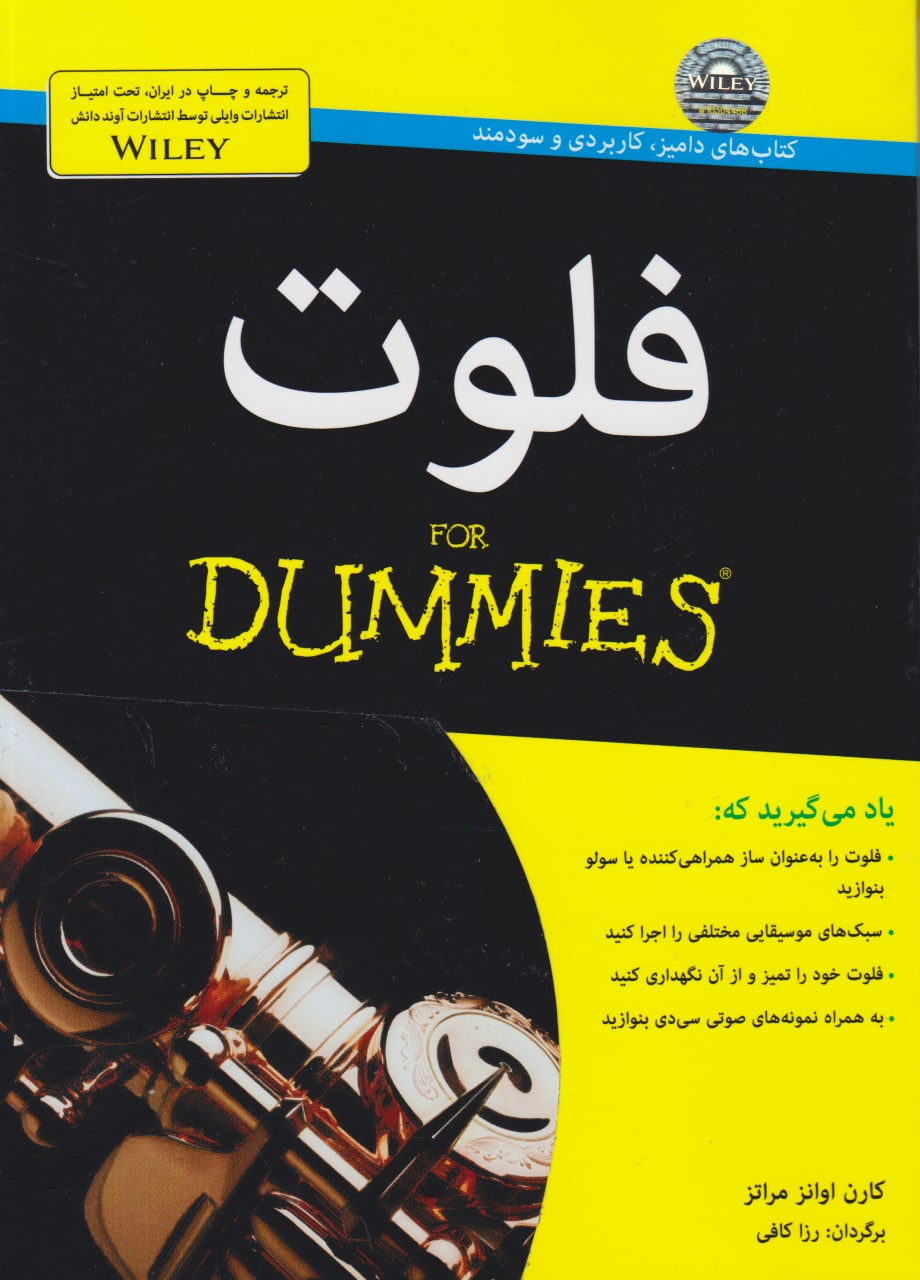 کتاب فلوت DUMMIES کارن اونزا مراتز انتشارات آوند