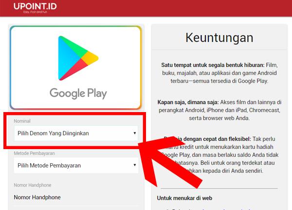 Upoint Id Cara Mengisi Saldo Google Play Dengan Pulsa